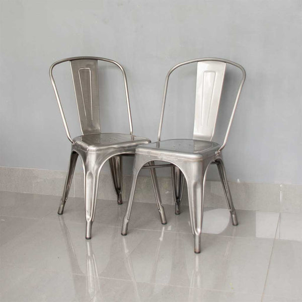 TOLIX STYLE FRENCH CAFE CHAIRS