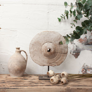 Decorative Vintage Wooden Pulley