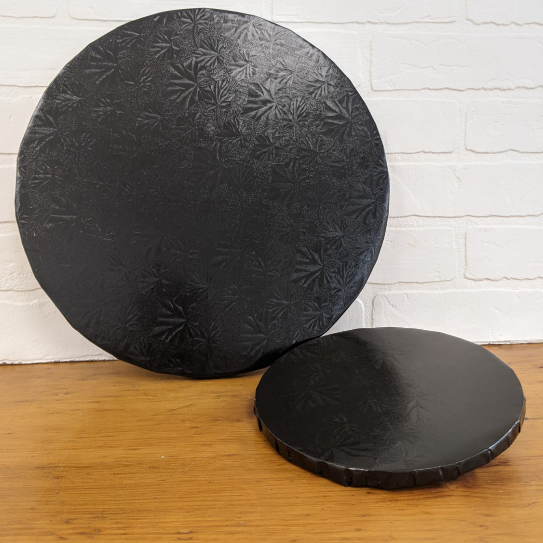 Black Cake Boards - Round -  1/2""