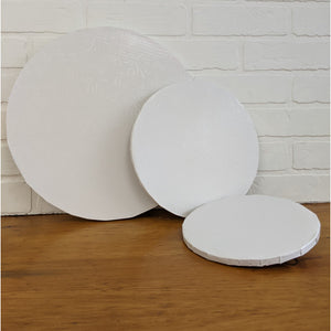 White Cake Boards - Round - 1/2""