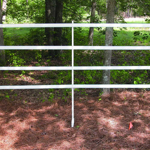"72"" Stirrup Post - White 10pk"