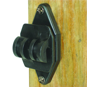 Wood Post - Nail on Insulator for Hi-Tensile - Black (100/pk)