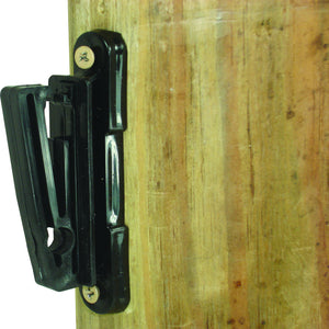 "Wood Post - 2"" Polytape Nail on Insulator - Black"