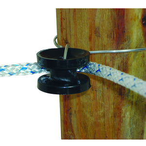 Wood Post - High Strain Corner Insulator - Black