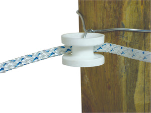 Wood Post - High Strain Corner Insulator - White