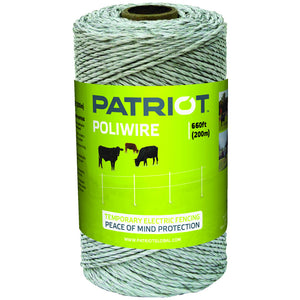 Patriot White Polywire - 660'