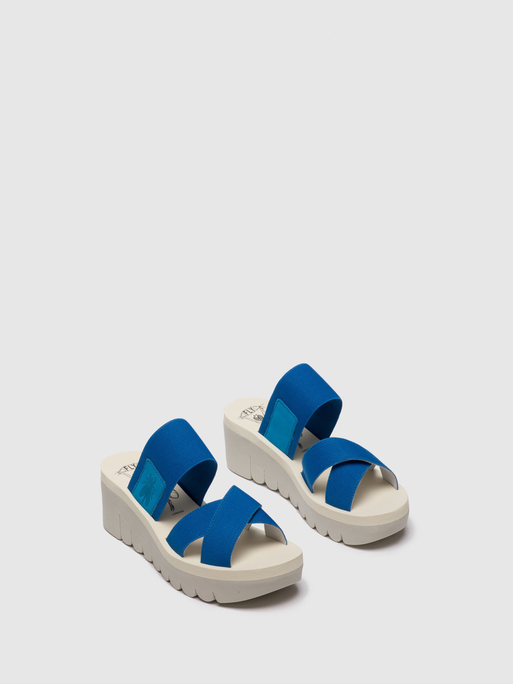 Strappy Mules YABO593FLY AZURE (BEIGE)