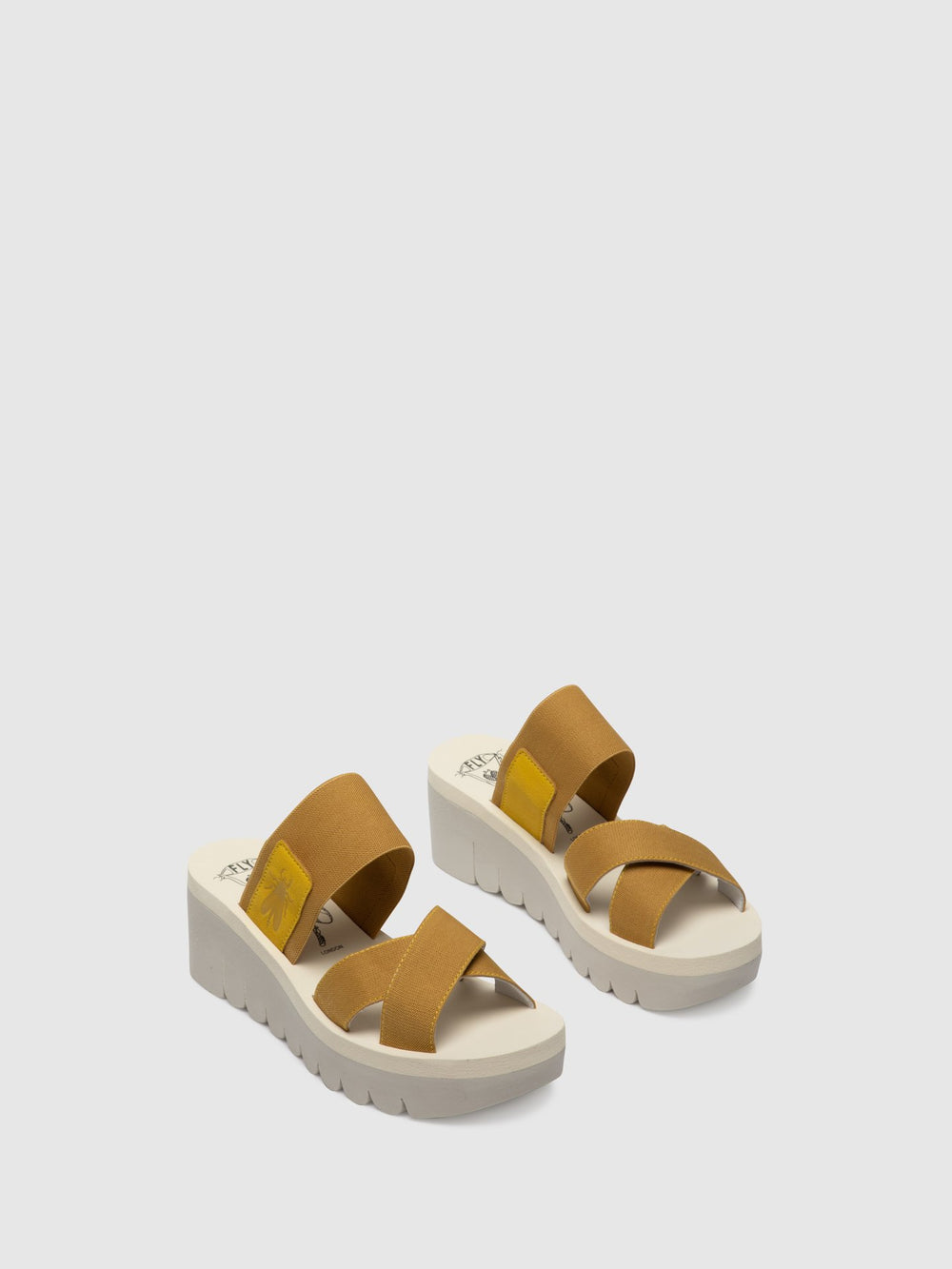 Strappy Mules YABO593FLY BRIGHT YELLOW (BEIGE)