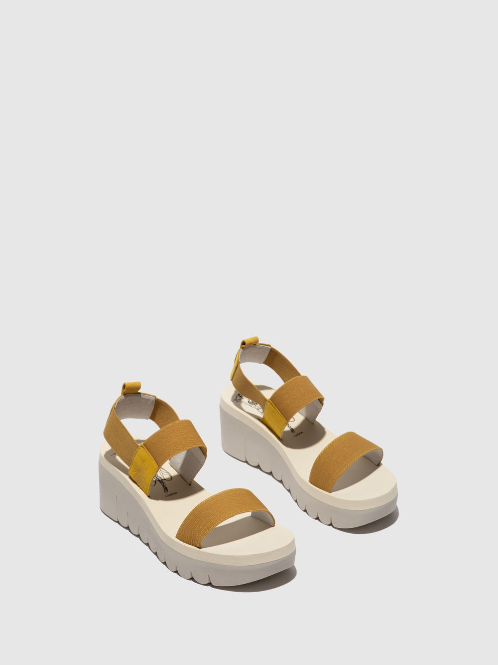 Sling-Back Sandals YACI594FLY BRIGHT YELLOW (BEIGE)