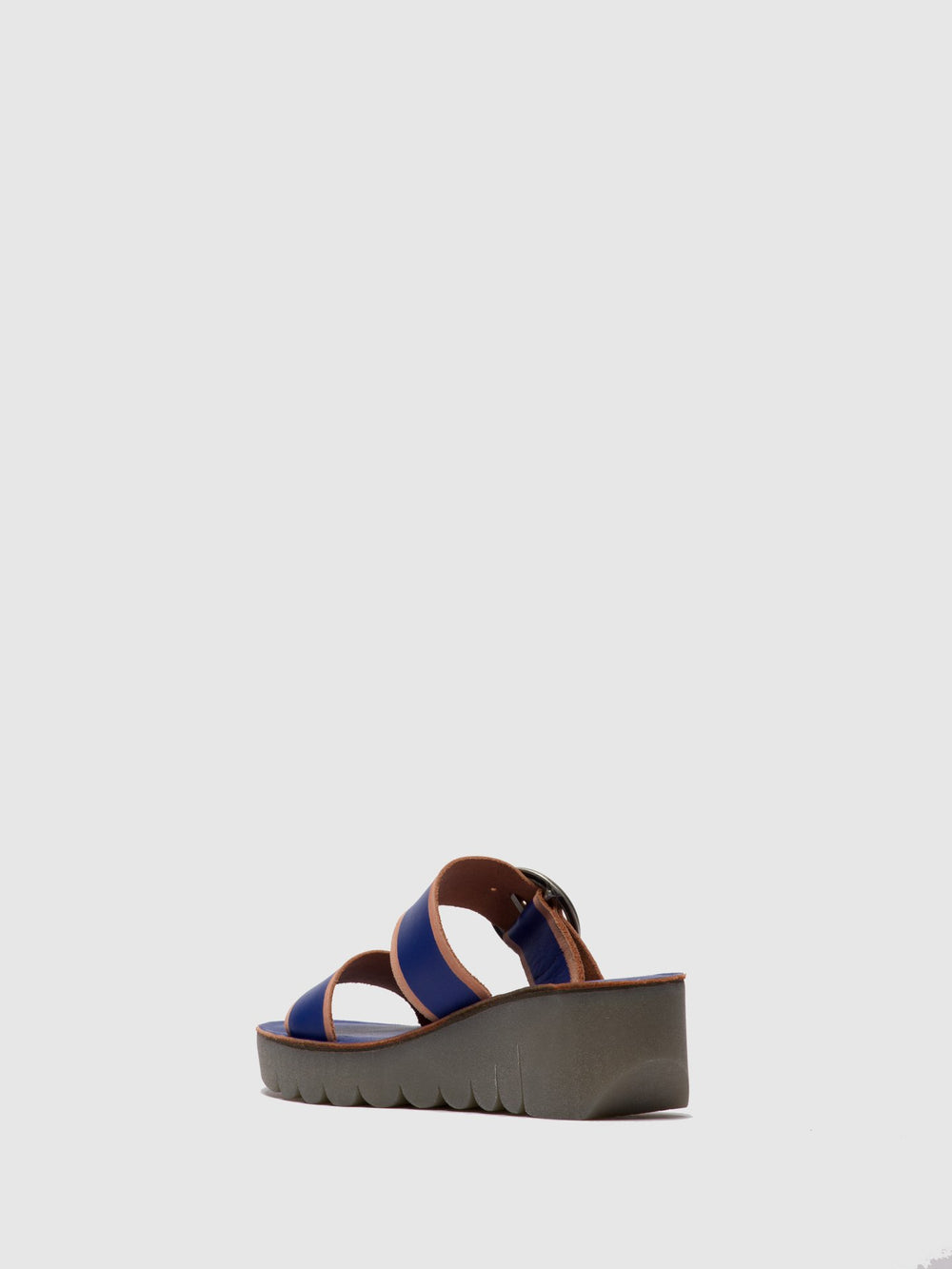 Strappy Mules YUNO601FLY BLUE/BRANDY