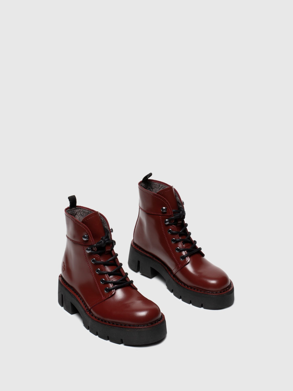 Lace-up Ankle Boots BOLA009FLY RED