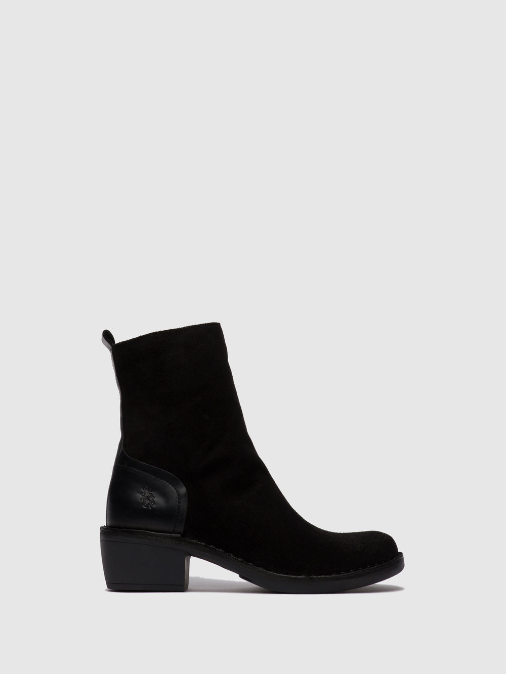 Zip Up Ankle Boots MOBA032FLY OILSUEDE/RUG BLACK/BLACK