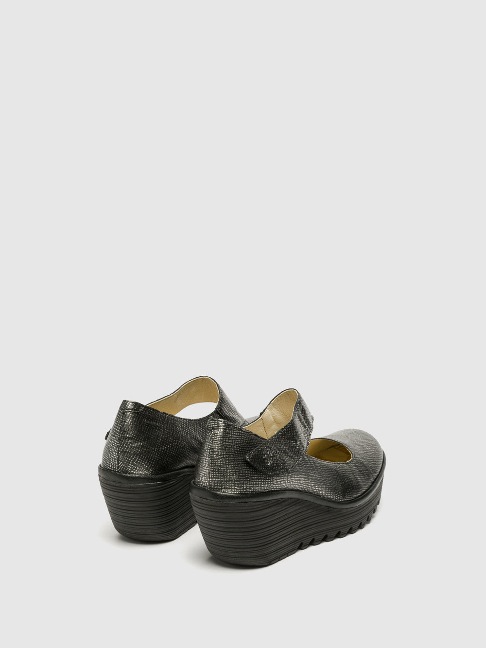 Wedge Shoes YASI682FLY ANT.SILVER/BLACK