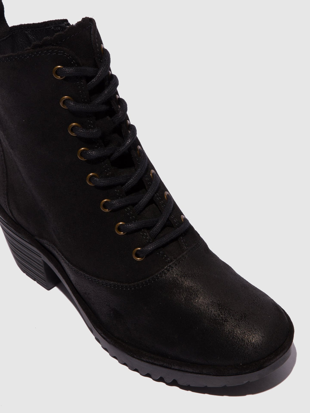 Lace-up Ankle Boots WUNE077FLY BLACK