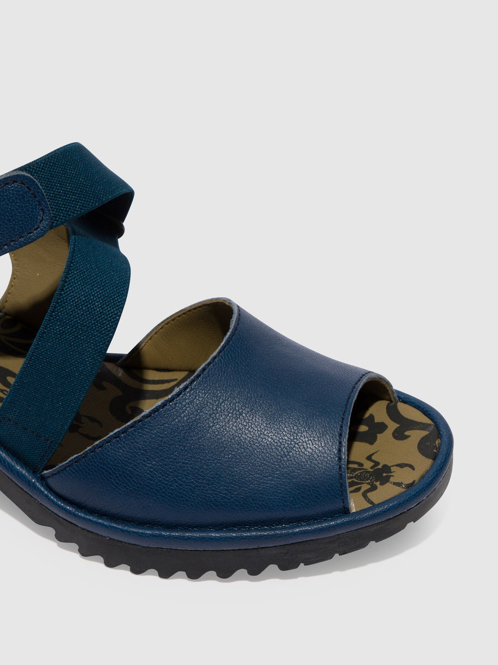 Velcro Sandals WUNI135FLY BLUE (BLACK SOLE)