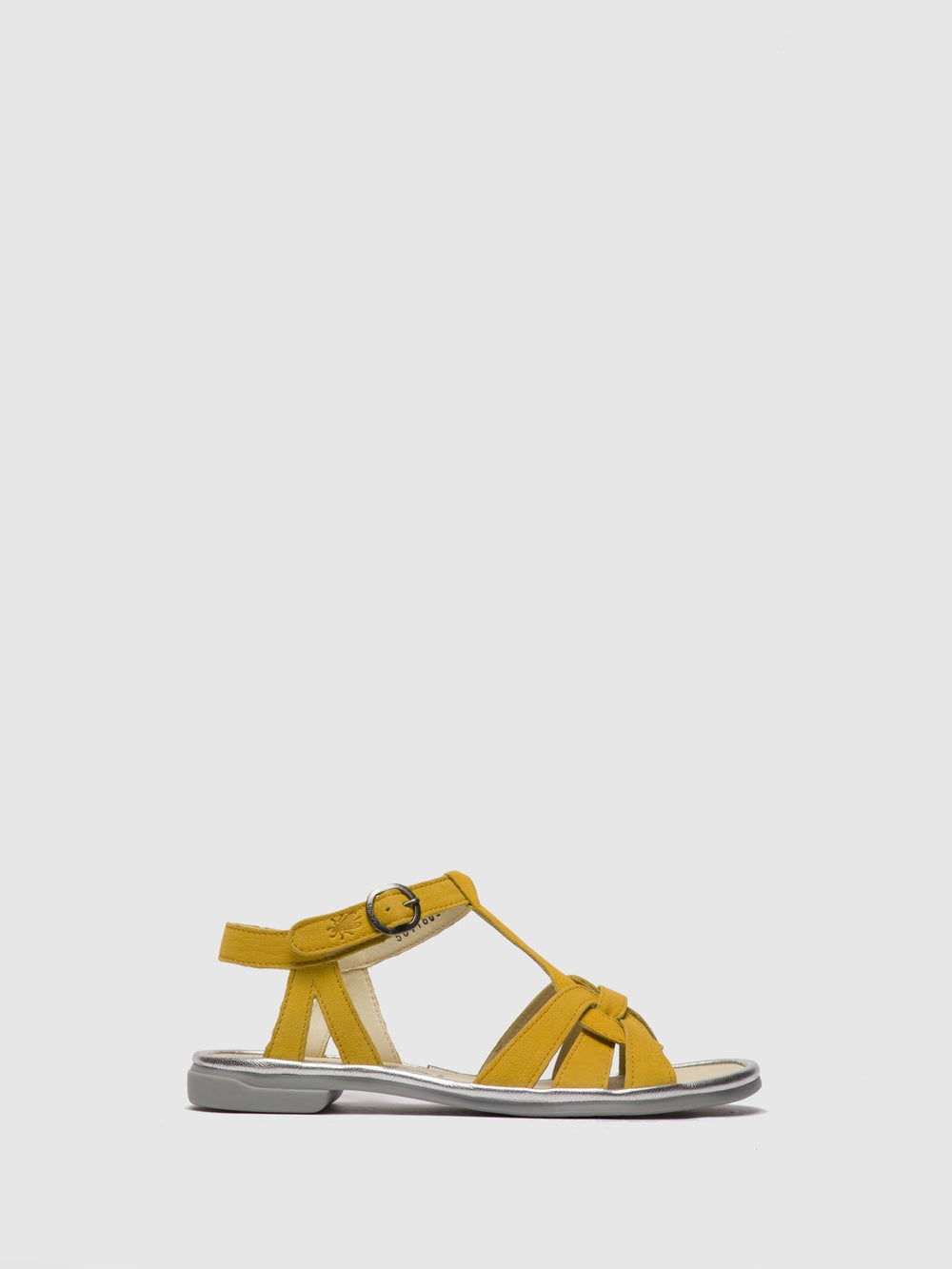 T-Strap Sandals COGE166FLY BRIGHT YELLOW/SILVER