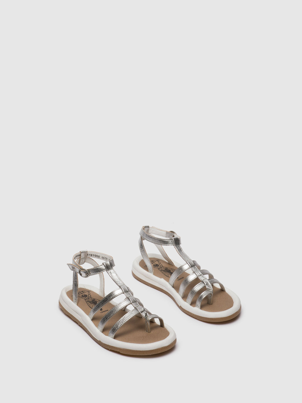 Gladiator Sandals FONT189FLY SILVER