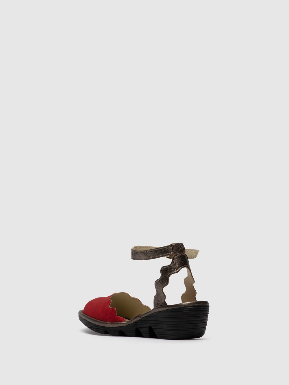 Ankle Strap Sandals PINE192FLY LIPSTICK RED/BRONZE