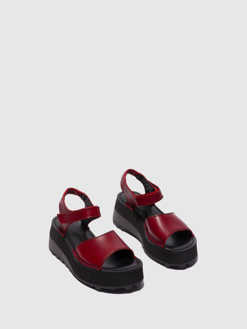 Velcro Sandals HOST483FLY RED/BLACK