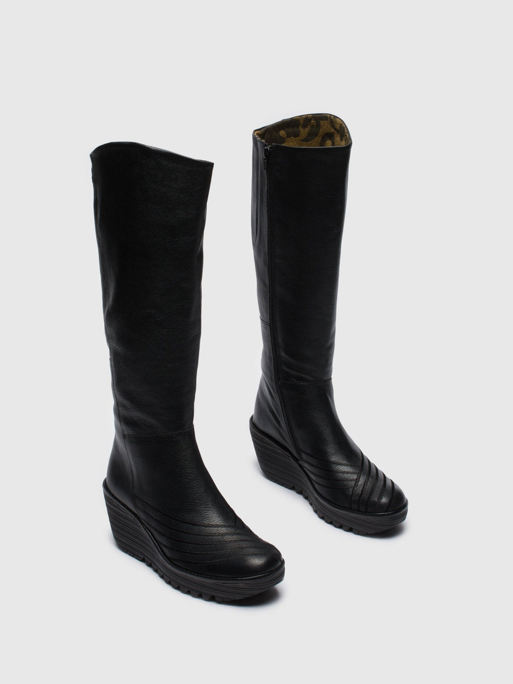 Zip Up Boots YULI065FLY BLACK
