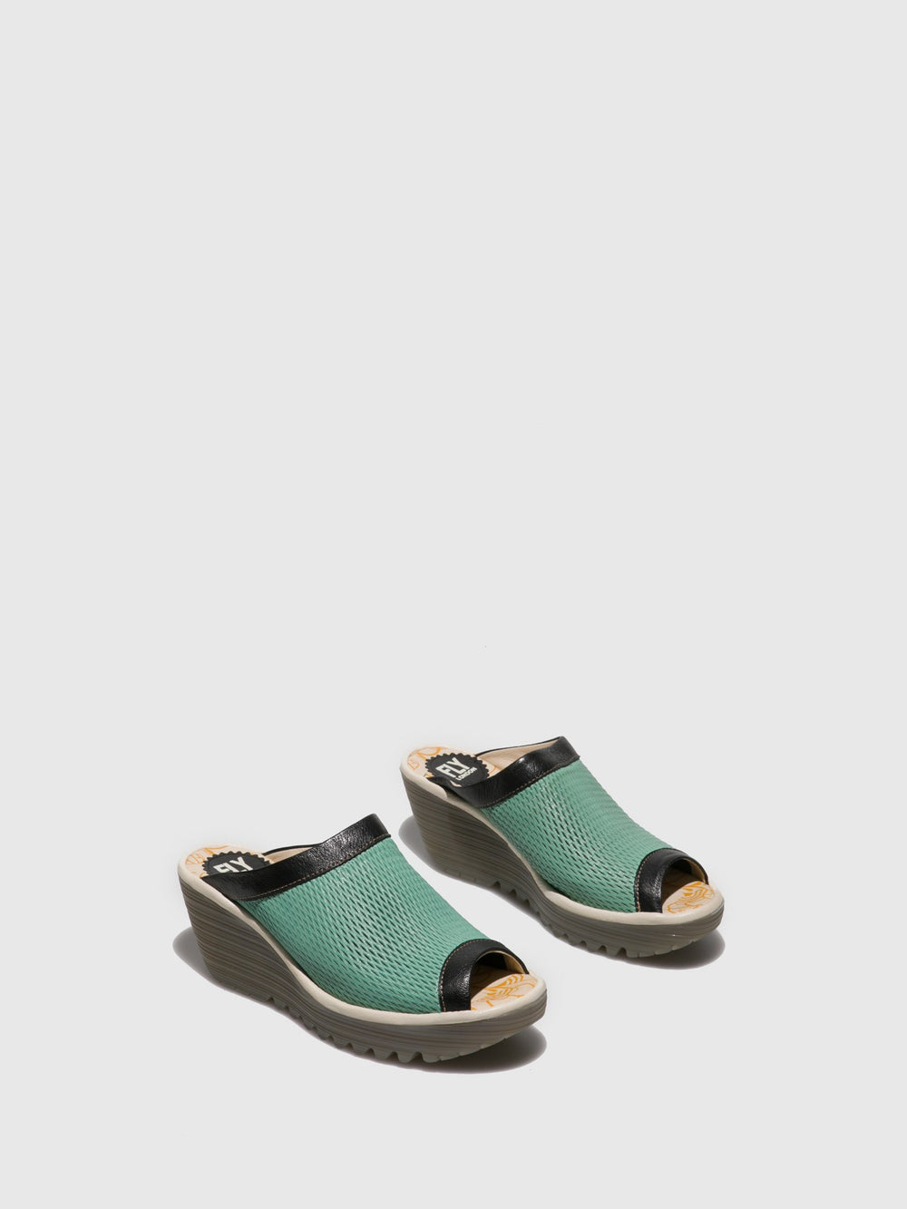 Open Toe Mules YENO164FLY MYNT/BLACK/OFFWHITE
