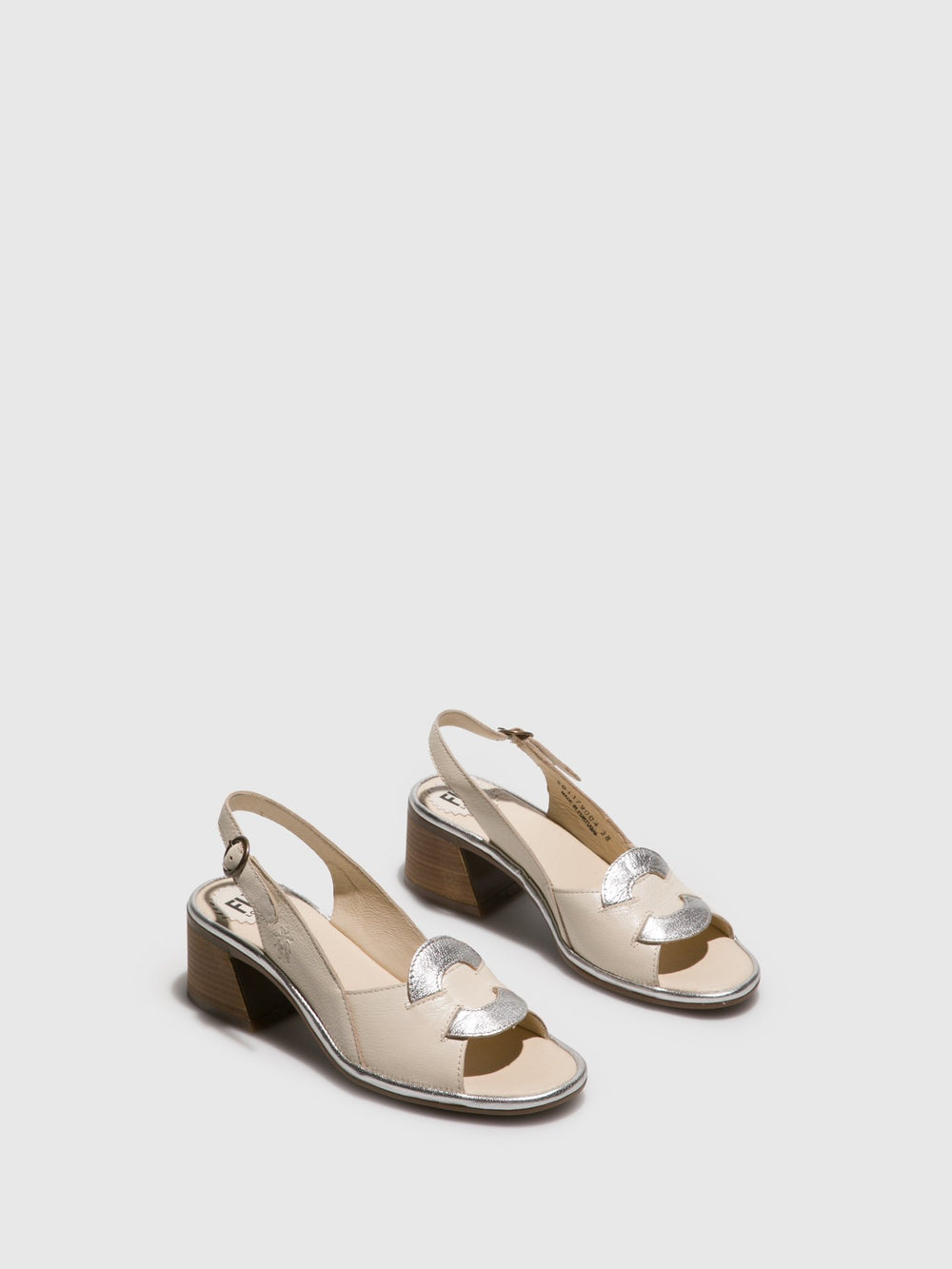 Sling-Back Sandals LESO179FLY OFFWHITE/SILVER