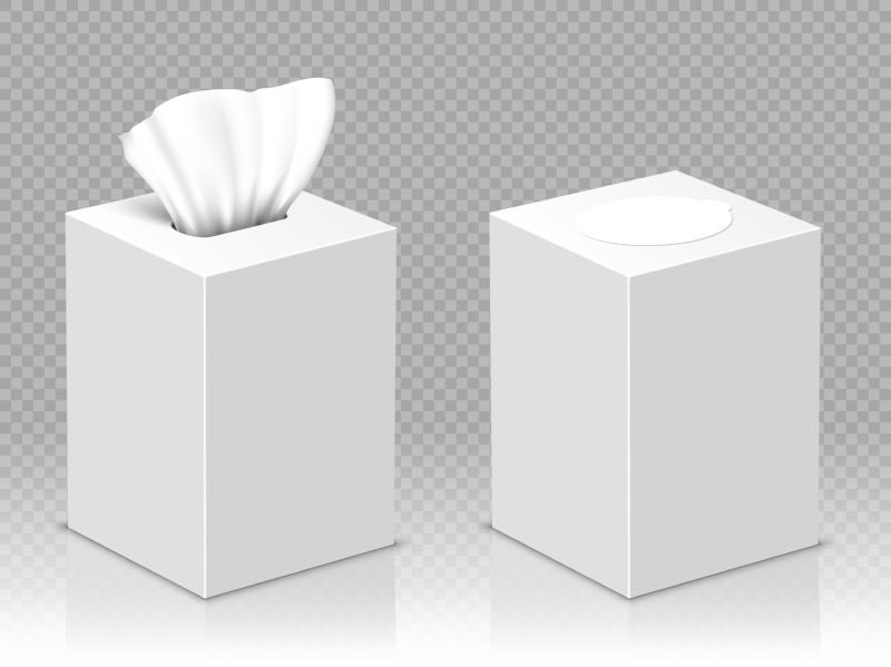 Box with white paper napkins. Vector realistic  #110