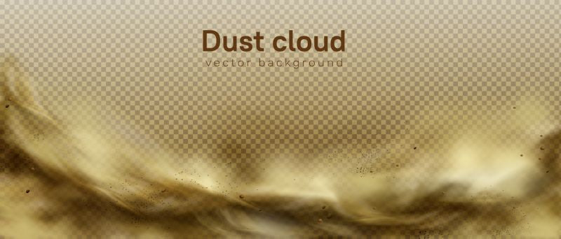 Desert sandstorm, brown dusty cloud or dry  #608