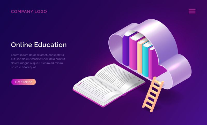 Online education isometric concept vector illustration. Open  #337