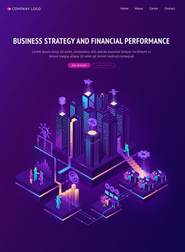 Free vector. Business strategy and financial performance banner. Vector  #410
