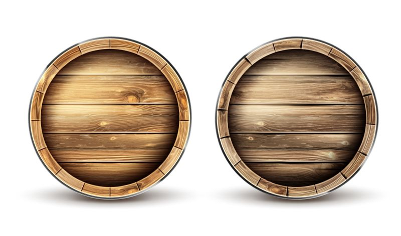 Wooden barrels for wine, beer or whiskey  #640