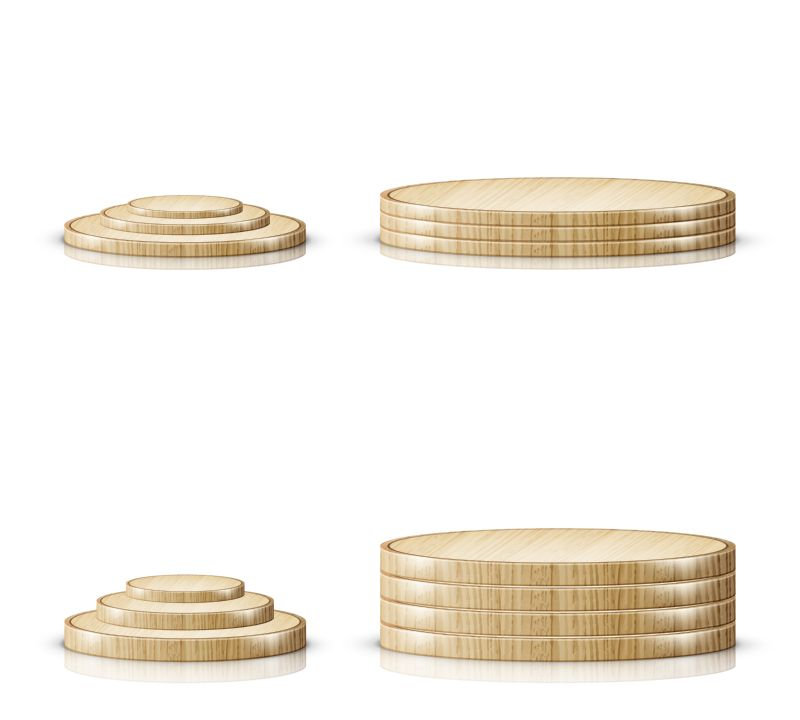 Wooden cutting board or tray, podium or  #929