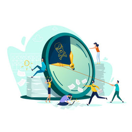 Deadline and time management business concept vector.  #92