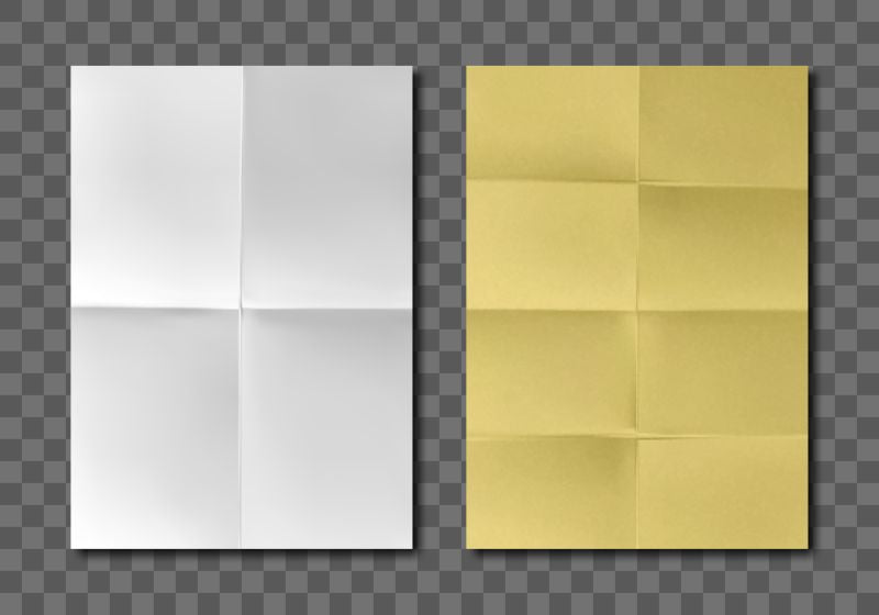 Folded blank paper sheets top view. Vector  #567