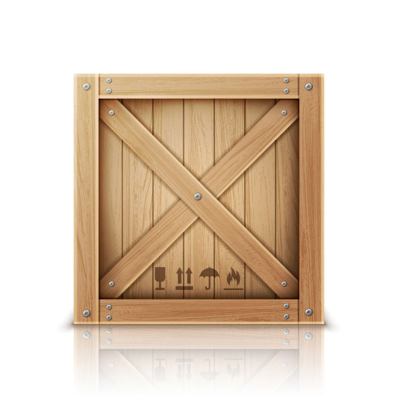 Wooden box closed by metal nails realistic  #795