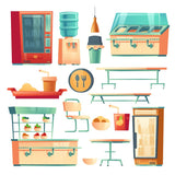 Canteen furniture in school, college or office.  #361