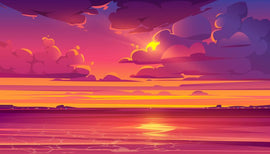 Free vector. Sea sunset. Tropical landscape with ocean, sky  #58