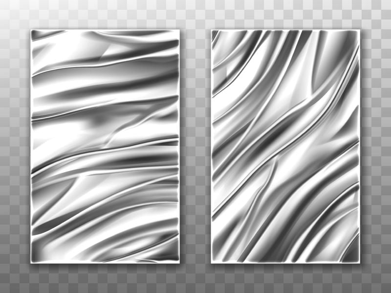 Silver foil crumpled metal texture background, aluminum  #682
