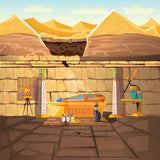 Ancient Egypt pharaoh lost tomb, underground cartoon  #717
