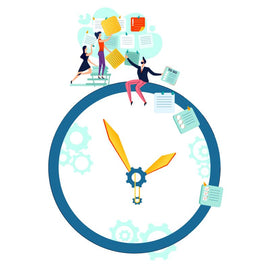 Deadline, time management and teamwork business concept  #711