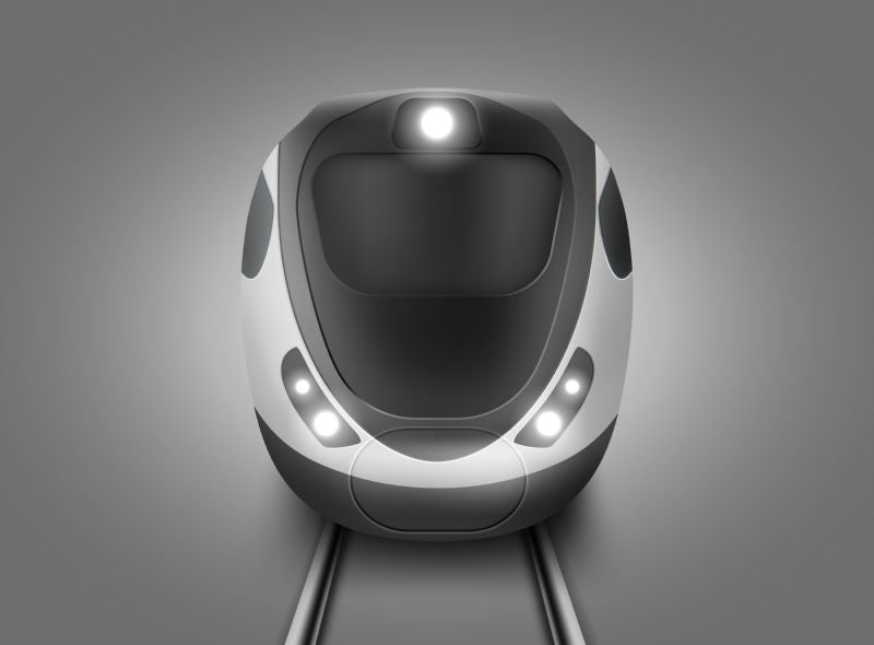 Modern subway train front view. Vector realistic  #285