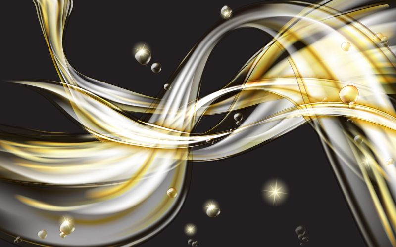 Yellow golden flowing liquid vector abstract background,  #579