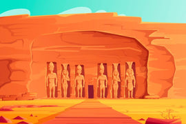Ancient Egypt, Abu Simbel Small Temple, cartoon  #811
