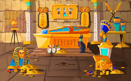 Ancient Egypt tomb of pharaoh cartoons vector  #178