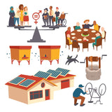 Set of icons gender equality, men and  #959