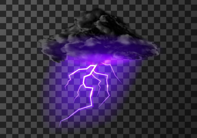 Thunderstorm cloud with lightning weather meteo icon  #767