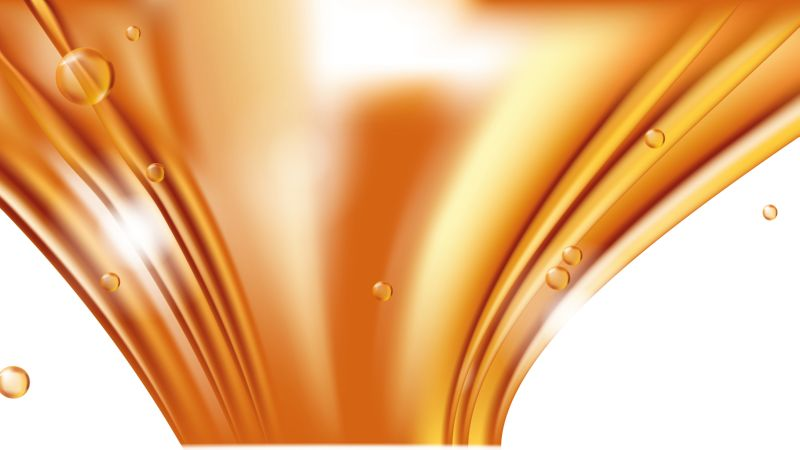 Orange golden flowing liquid vector abstract background,  #321