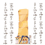Ancient Egypt papyrus or stone cartoon vector  #402