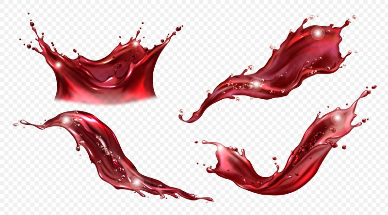 Splash of wine or red juice isolated  #250