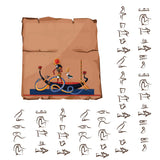 Ancient Egypt papyrus cartoon vector with hieroglyphs  #738